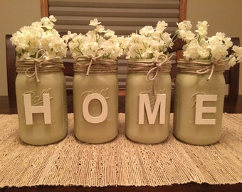 Decorative Mason Jars- HOME