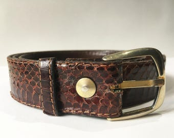 Python belt, man, vintage