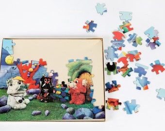 Vintage jigsaw puzzle-the Walls and the Lamaars-fabeltjeskrant