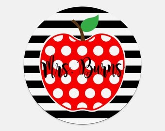 Apple Mousepad - Teacher Mousepad - Gifts for Teachers - Personalized Mousepad- Monogram Mousepad- Custom Mouse Pad - Computer Accessories