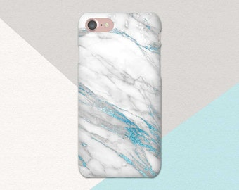 Blue White Marble Phone Case, iPhone 6 Case, iPhone 7 Case Marble, Blue iPhone 6 Plus Case, iPhone 6S Case Blue, iPhone 6S Plus Phone Case