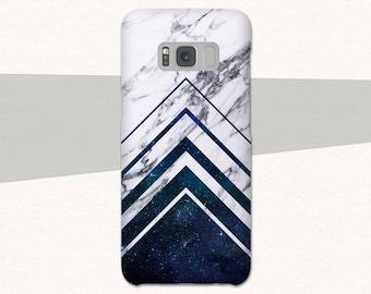 Geometric Marble Galaxy S8 Case, Geometric Samsung Galaxy S7 S6 S5, Space Galaxy S8 Plus Case, Marble Galaxy A5 A3 Case, Edge, Galaxy Note 5