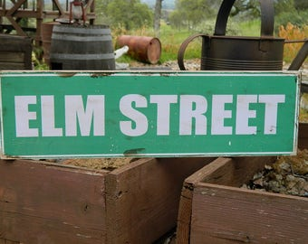 """Distressed Primitive Country Wood Sign - Your Name Street Sign sign  5.5"""" x 19"""""""