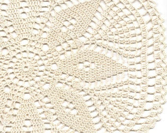 Vintage Handmade Crochet Doily Lace Lacy Doilies Wedding Decoration Home Decor Flower Mandala Dream Catcher Crocheted Pineapple Round Cream