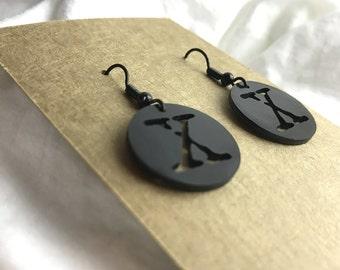 X-Files Logo Earrings (black)