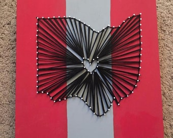 Ohio State Buckeyes String Art