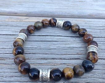 Tiger eye stretchy beaded bracelet