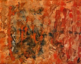Abstract canvas art - Il fuoco (fire)