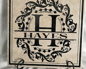 Personalized Family Last Name 12x12 tile - *FREE SHIPPING*