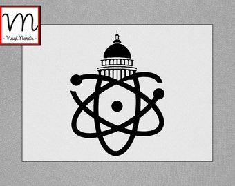 March for Science Atom - Permanent Vinyl Decal/Sticker