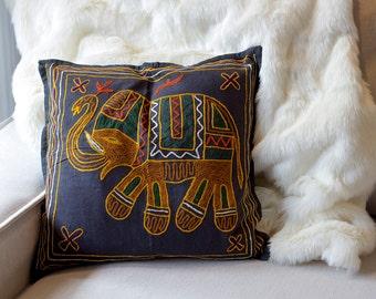 Throw Pillow Cover, Throw Pillow, Pillow Case, Cushion Covers, Decorative Pillows, Black Pillow, Handmade Pillow Case, Sri Lanka