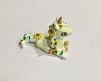 sunflower unicorn figurine