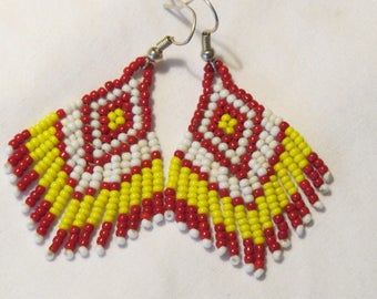 Native Style Beaded Earrings