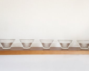 Japanese vintage 1970's fruits glass cup set of 5  new old stock
