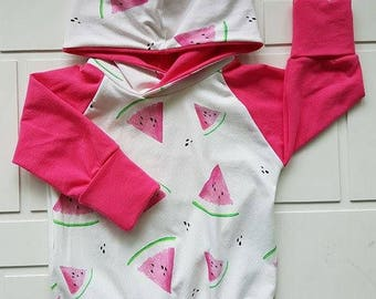 Hoodie scalable melon pink