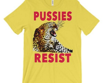 Pussies Against Trump Leopard Roaring Women's T-Shirt Anti Trump Inauguration Protest Election 2016