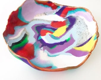 Vibrant Trinket bowl - Metallic Edge