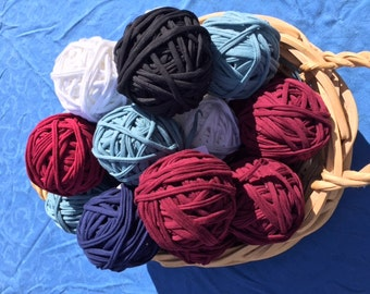 T-shirt yarn, recycled t-shirt yarn