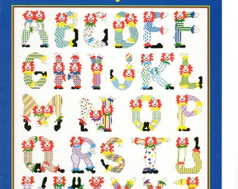 Clown Alphabet by Just Cross Stitch Leaflet --Item #503