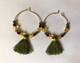 Creoles tassels earrings