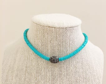 Turquoise Pave Choker