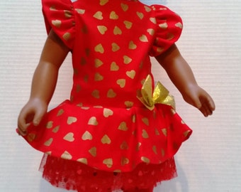 2-Piece Set Doll Dress - For 18 inch Doll  (A-1) Fits American Girl size dolls