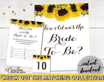 How Old Was The Bride To Be Bridal Shower How Old Was The Bride To Be Sunflower Bridal Shower How Old Was The Bride To Be Bridal SSNP1