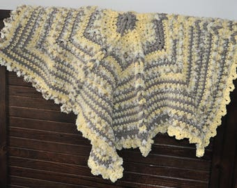 Yellow Star Baby Blanket