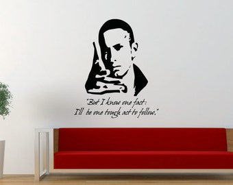 Eminem Quote, Marshall Mathers, MM, Hip Hop, Rap, Music, Decal, Vinyl, Home Decor, Sticker, Wall Art, Wall Decal, Bedroom, Living Room