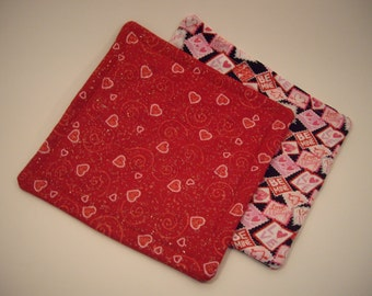 Valentine Pot Holder/ Hot Pad Set of 2. Say I love you to your favorite cook!