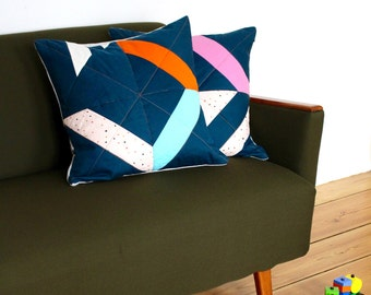 SHIP AHOI! No.2 Stylish Geometric Quilted Pillow