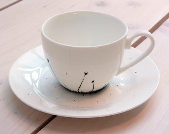 Mono Meadow Cup and saucer set