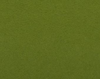 Felt - green craft felt / rich moss green 1 mm 40 x 45 cm