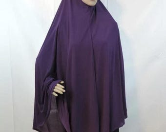 "51"" knee length solid color khimars"