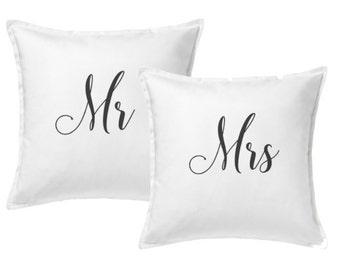 Mr & Mrs Couple Pillows (Set of 2)