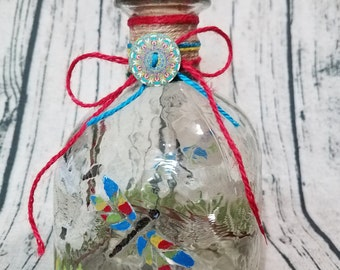 Decorated Patron bottle, painted/embellished