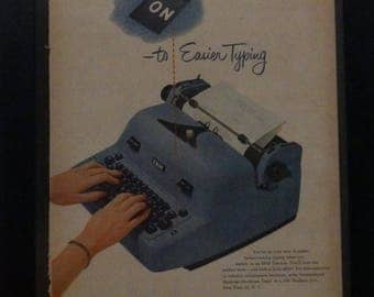 IBM, Electric Typewriter, Vintage Office Decor, Writers, Life Magazine, 1952, Vintage Office Ad, Retro Wall Art, Office Ephemera,