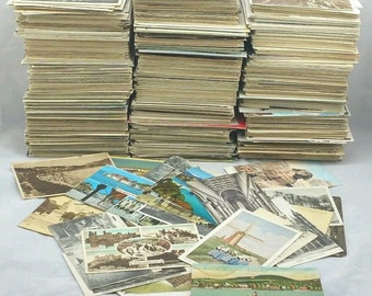 Genuine Old Postcards Collection Vintage/UK/Foreign/Europe/ b/w Colour Job Lot Mixed Assorted Eras (in packs of 25)