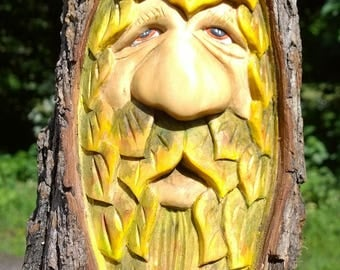 Barkskin treespirit a unique greenman woodspirit carving