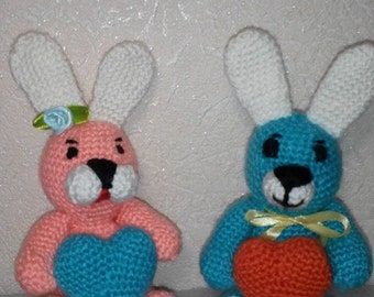 Crochet toy Amigurumi Bunny stuffed animal Kids toy Photos