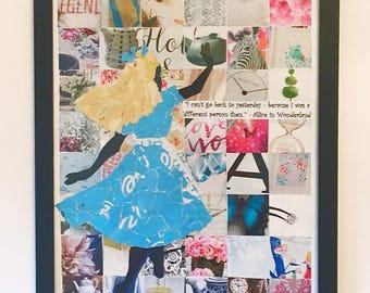 INSPIRED BY ... ALICE, alice and wonderland art print, magazine art print