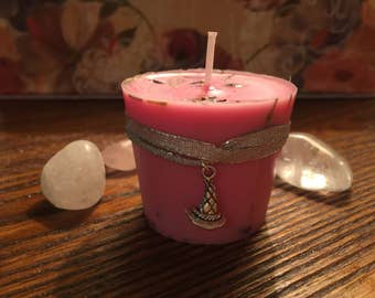 Love and Attraction Candle - Ritual Candle - Spell Candle - Witchcraft Candle - Altar Candle - Magick Candle