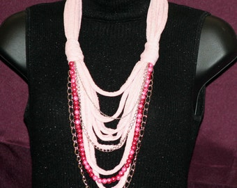 Pink T-Shirt Necklace