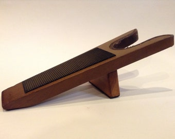 Vintage Wooden Shoe Shine Foot Rest / Boot Jack / Boot Remover Early to Mid-20th Century Design