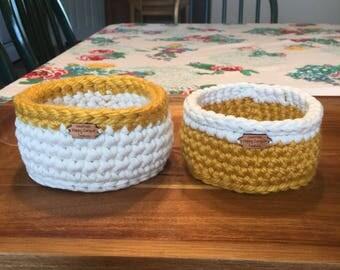 Handmade Crocheted Basket Set