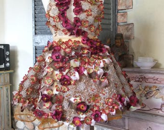 fairy dress with flowers