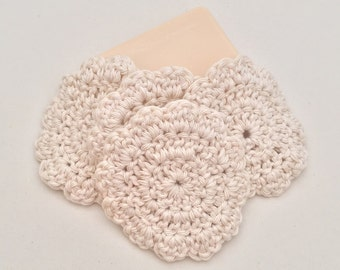 Cotton Face Pads, Crocheted Face Pads, Reusable Face Pads, Spa Face Pads, Make up pads, Facial Pads, Face Cloth, 100% Cotton, Face Scrubbie