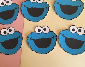 6 Cookie Monster Cutouts