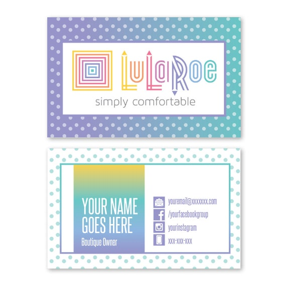 Polka dot lularoe business cards by kstewdesignstudio on etsy for Etsy lularoe business cards