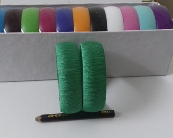 Silkthread wrapped 25mm adult 2/10 Plain Bangle Pair